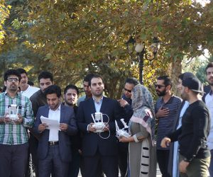 آزمون خلبانی پهپاد در تهران