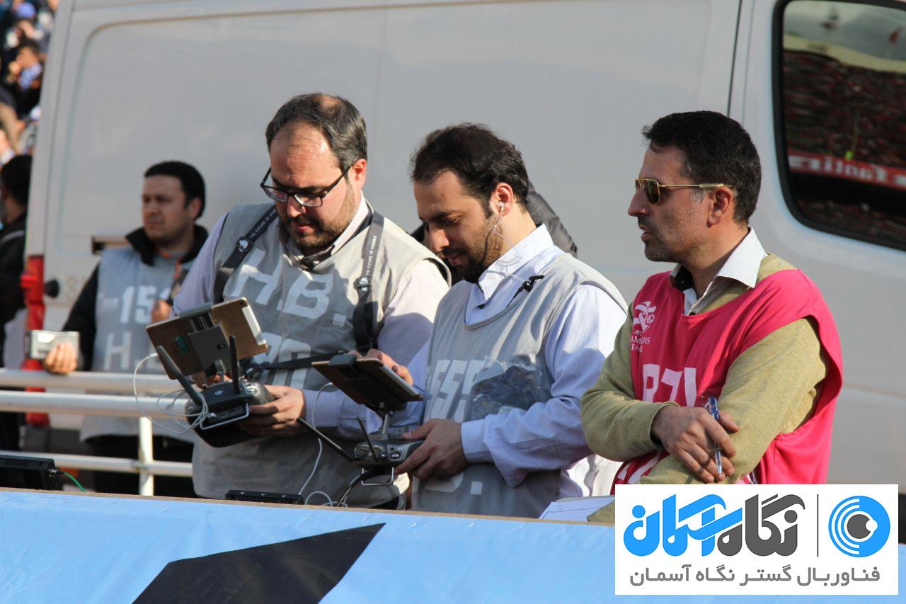 تصویربرداری هوایی با پهپاد در مسابقات فوتبال