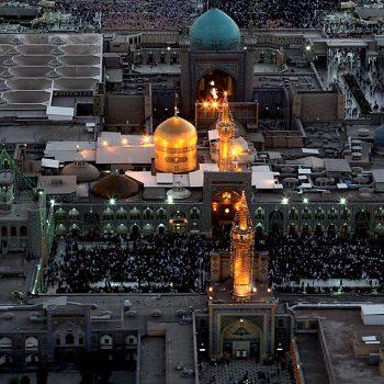 عکس هوایی و هلی شات حرم امام رضا