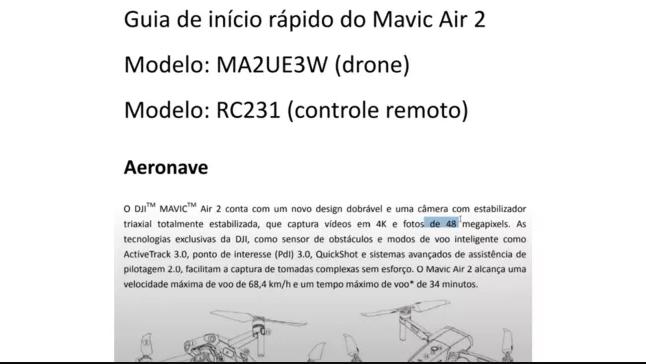مشخصات فنی mavic air 2
