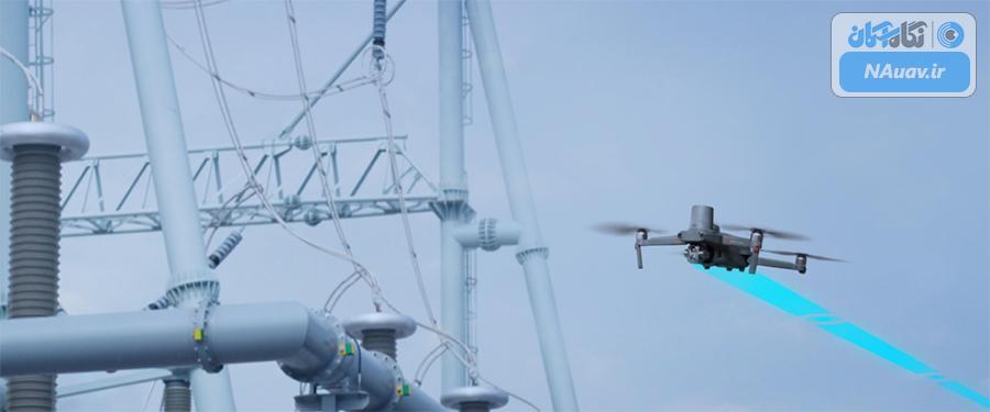 پرواز پهپاد mavic 2 enterprise advanced  در نزدیکی دکل های فشار قوی برق